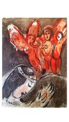 Marc Chagall - The Bible - Sarah and the Angels - Original Lithograph