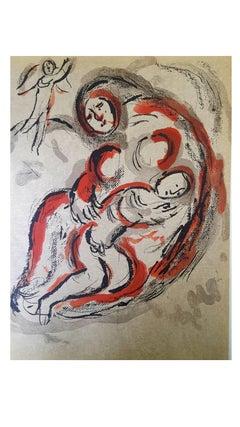Marc Chagall - The Bible - Hagar in the Desert - Original Lithograph