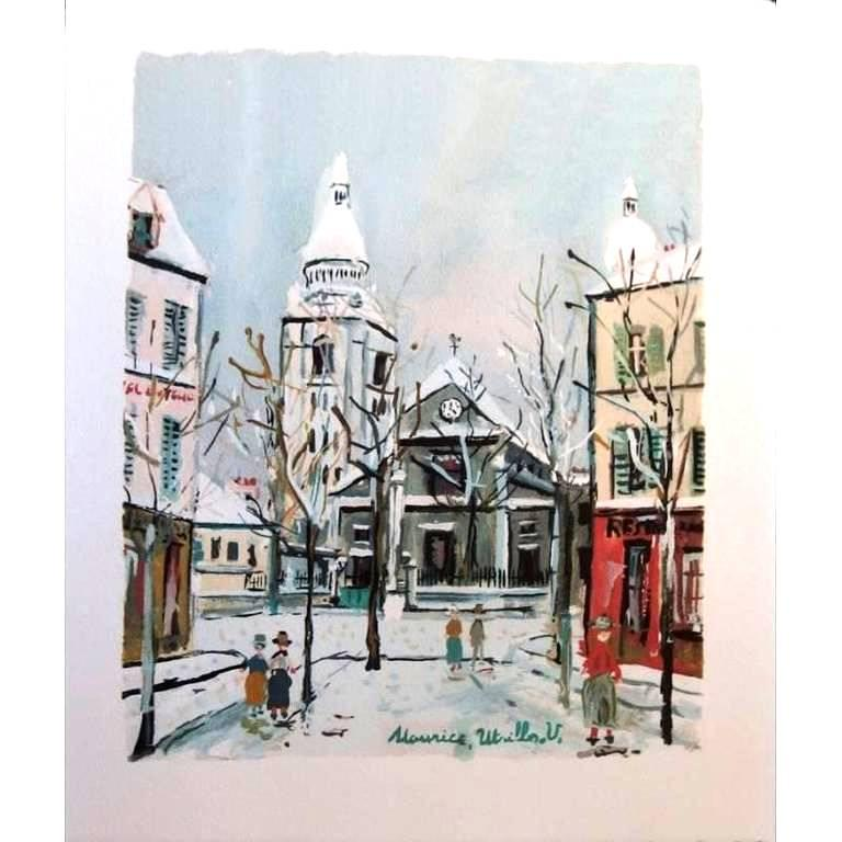After maurice utrillo l 39 eglise saint pierre de for Pochoir prints for sale