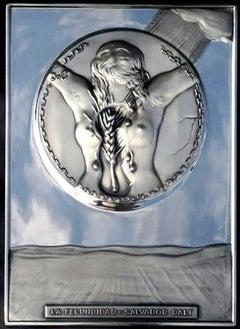 Salvador Dali - The Fecondity - Bas Relief Silver Sculpture