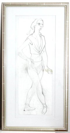 Camille Hilaire - The dancer - Original Drawing