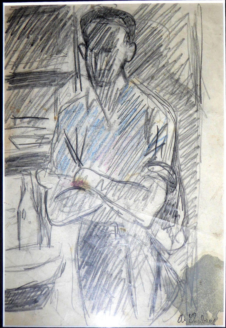 Auguste Chabaud - Bistrot Scene - Original Drawing