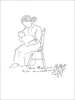 Louis Toffoli - Motherhood - Original Signed Drawing