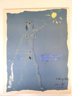 Jean Cocteau - Under the Fire Coat - Original Lithograph