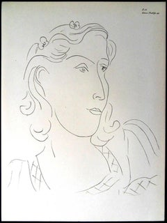 Henri Matisse (After) - Lithograph - Woman with Flowers in Her Hair