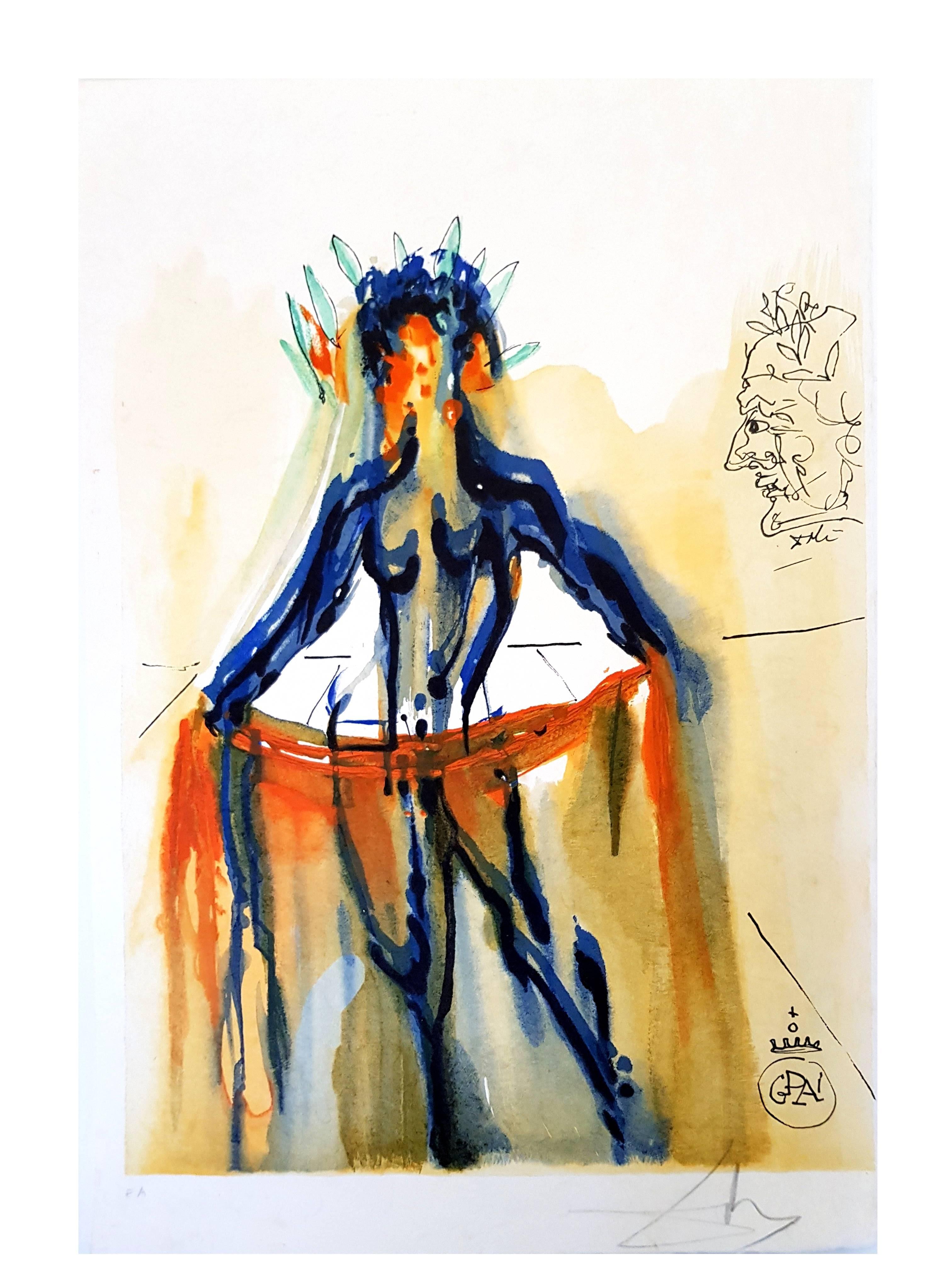 Salvador Dali - The Art of Loving - Handsigned Lithograph