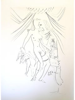 Salvador Dali -  Venus, Mars and Cupidon - Handsigned Etching