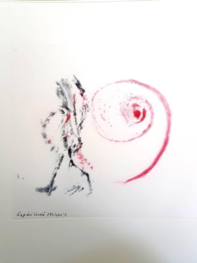 After Henri Michaux - Moments - Original Aquatint