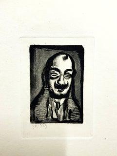 Georges Rouault - Original Engraving - Ubu the King