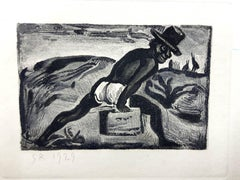 Georges Rouault - Original Engraving - Ubu the King