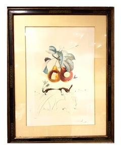 Salvador Dali - Fruits With Holes - Original Hand-Signed Lithograph