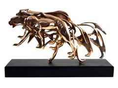 Arman - Arman - Gilded Panther - Signed Bronze Sculpture