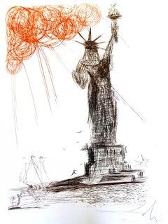 Salvador Dali - Statue of Liberty - Original Handsigned Etching