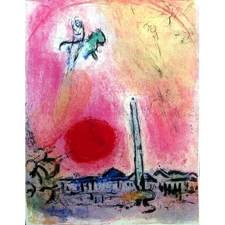 Marc Chagall - Concord's Place - Original Lithograph
