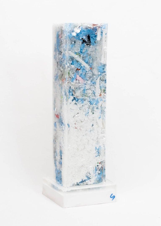 Charles Osawa - Contemporary Compression - Gray Abstract Sculpture by Charles Osawa