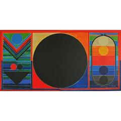 Sayed Haider Raza - Three Bindu - Signed Lithograph