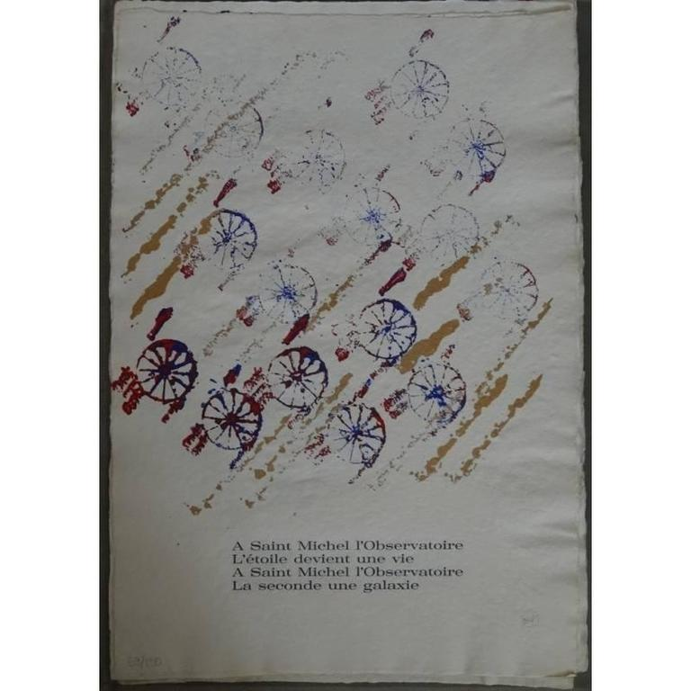 Arman - Saint Michel - Rare Portfolio of 12 Serigraphies and Engravings For Sale 1