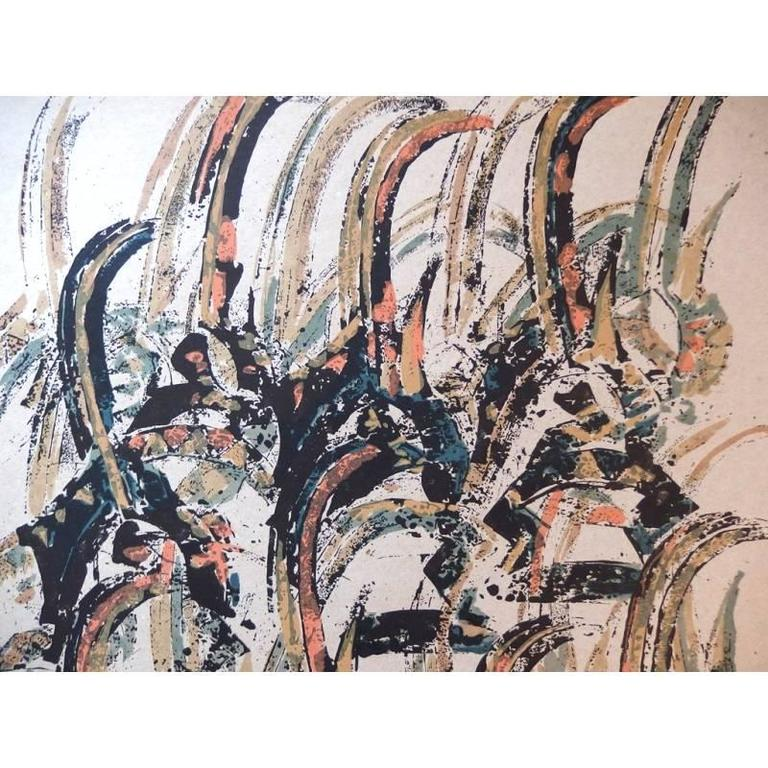 Arman - Tchi Wara - Original Signed Lithograph - Realist Print by Arman