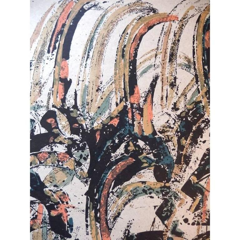 Arman - Tchi Wara - Original Signed Lithograph - Beige Still-Life Print by Arman