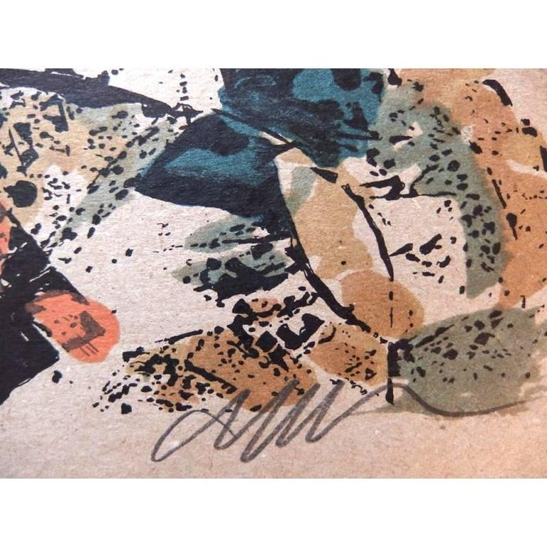 Original Lithograph by Arman Title: Tchi Wara Signed  Dimensions: 76 x 56 cm 1998 Edition of 106 + 7 numbered A to G  Arman  Armand Pierre Fernandez was born in 1928 in Nice, France. He is known as one of the most important international