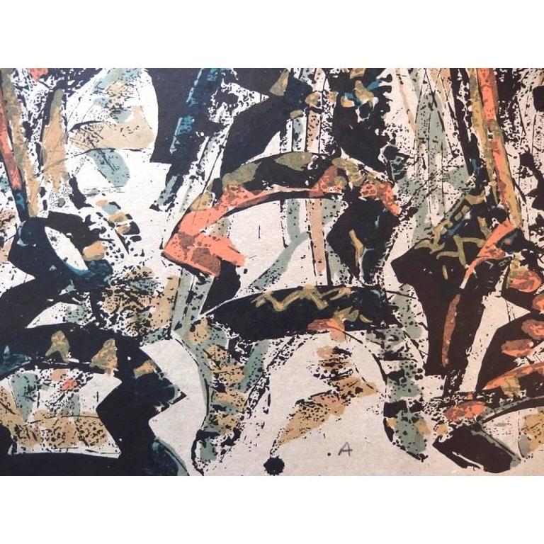 Arman - Tchi Wara - Original Signed Lithograph For Sale 1