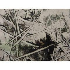 Simon Hantai - 'Surrealist Landscape' - Rare Original Oil Painting