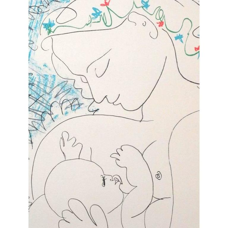Pablo Picasso - after Pablo Picasso - Maternity - Lithograph, Print ...