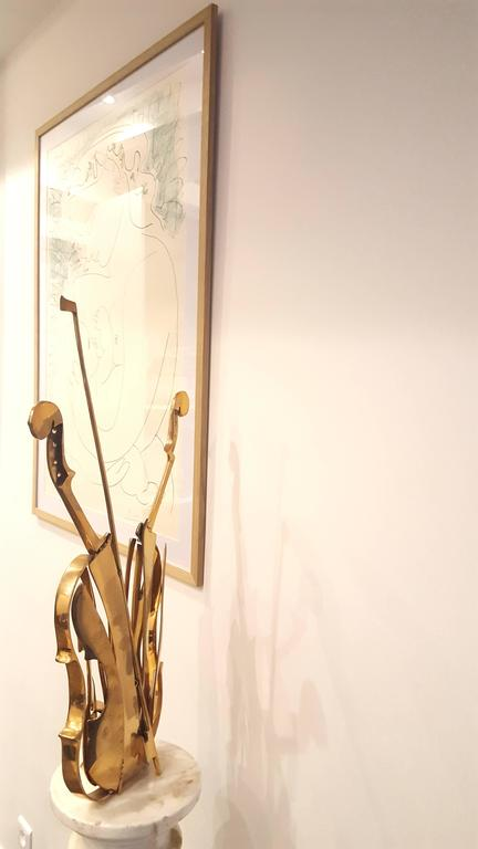 "Arman's -  ""Venice"" - Gilded Bronze Violin Sculpture 7"