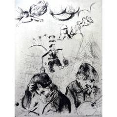 Marc Chagall - For the Lost Souls - Original Etching