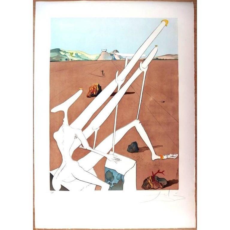Salvador Dali - Dali Martian - Original HandSigned Etching