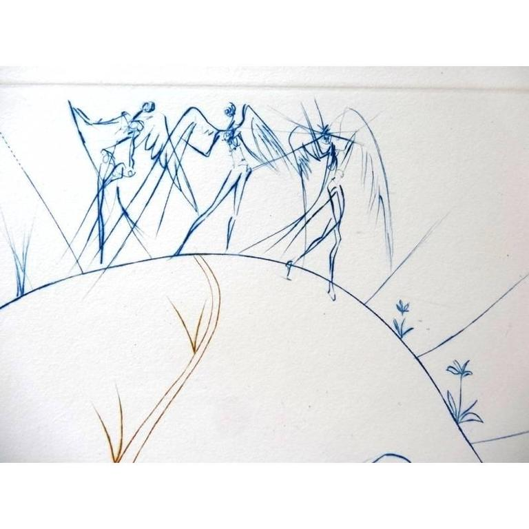 Salvador Dali - The Lost Paradise - Original HandSigned etching - Surrealist Print by Salvador Dalí