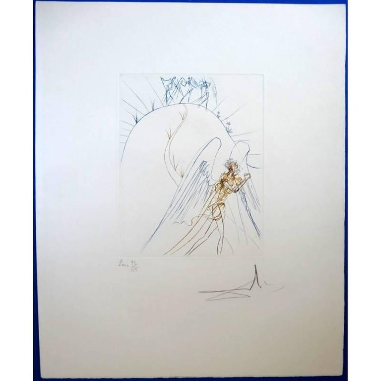 Salvador Dali - The Lost Paradise - Original HandSigned etching 3