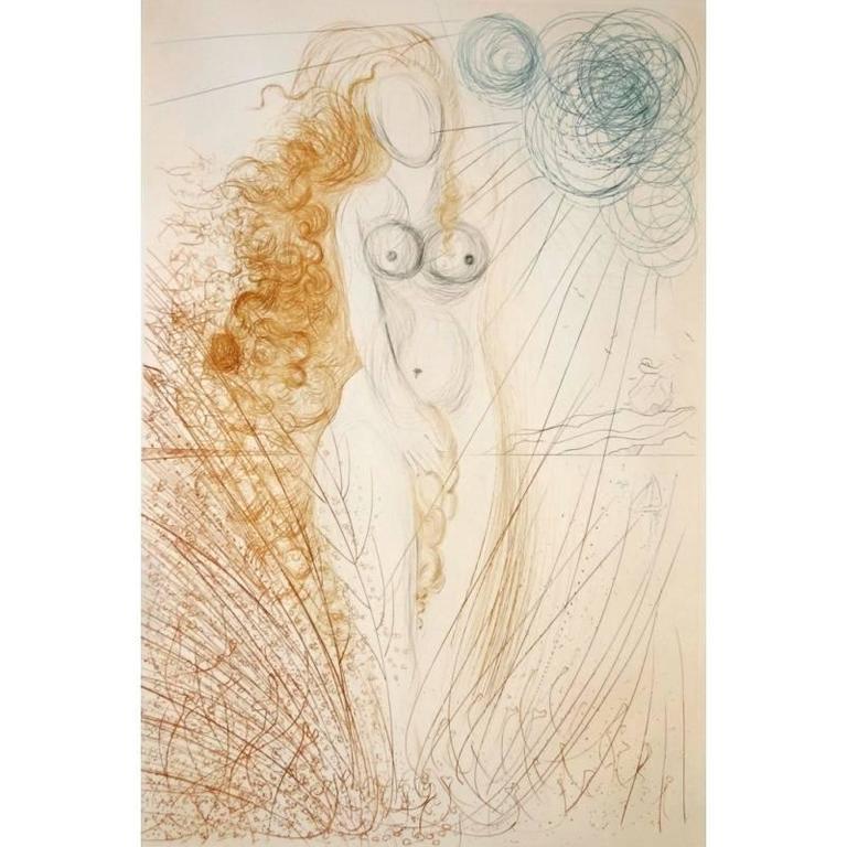 Salvador Dali -  The Birth of Venus - Original HandSigned Etching 2