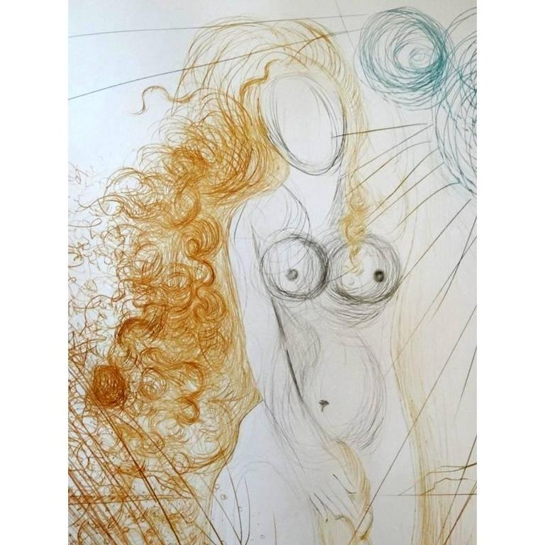 Salvador Dali -  The Birth of Venus - Original HandSigned Etching 3
