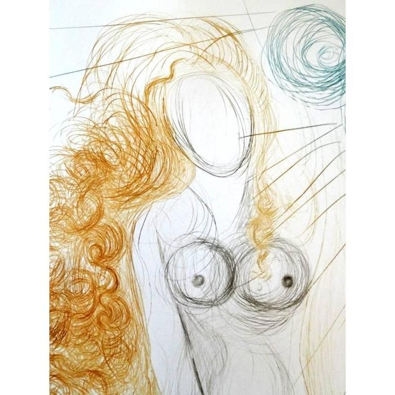 Salvador Dali -  The Birth of Venus - Original HandSigned Etching 4