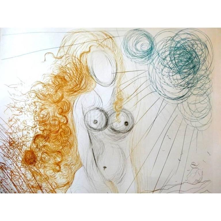 Salvador Dali -  The Birth of Venus - Original HandSigned Etching 6