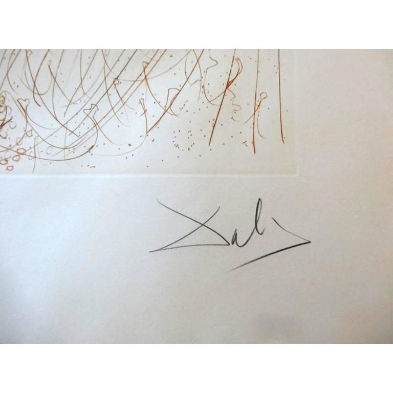 Salvador Dali -  The Birth of Venus - Original HandSigned Etching 8