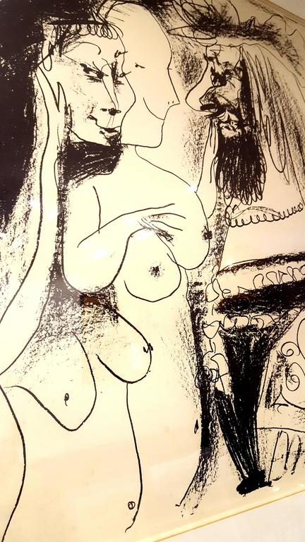 Pablo Picasso - The Old King - Original Lithograph For Sale 3