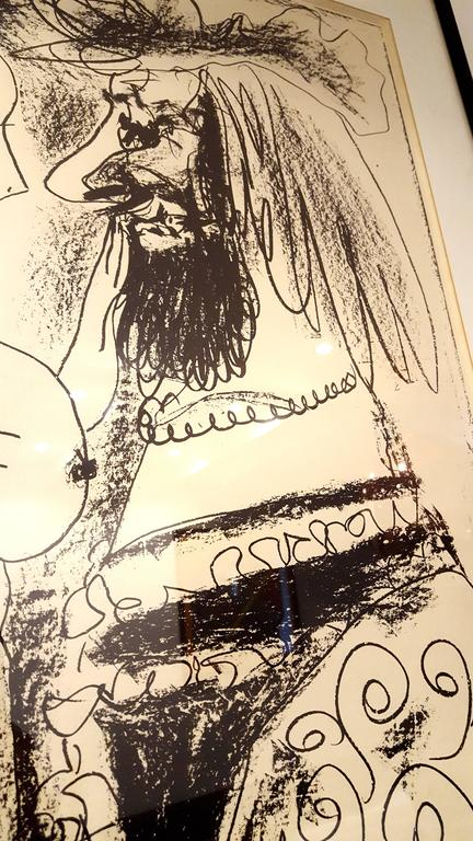 Pablo Picasso - The Old King - Original Lithograph For Sale 4