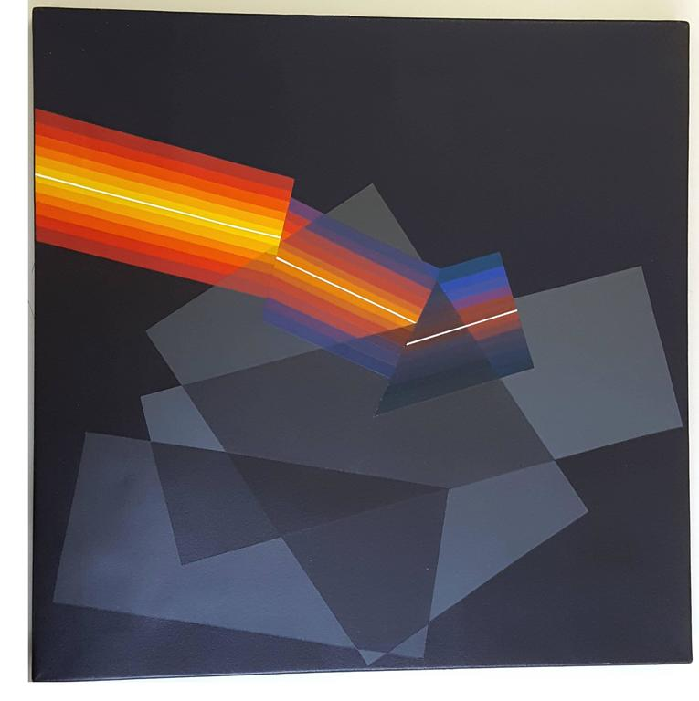 Horacio Garcia Rossi Couleur Lumière Décalée Oil on Canvas 50 x 50 cm Signed and dated 11/08 on the back  Horacio Garcia Rossi, along Morellet and J.Le Parc - these works, though created in strict accordance with the rules of mathematics, are