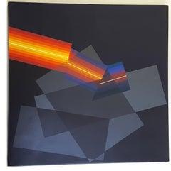 Horacio Garcia Rossi - Light Color - Original Signed Oil on Canvas