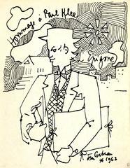 Jean Cocteau - Tribute to Paul Klee - Original Lithograph