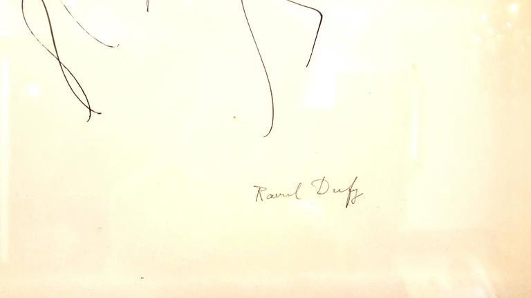 Raoul Dufy - Relaxation - Original Signed Ink Drawing - White Nude by Raoul Dufy