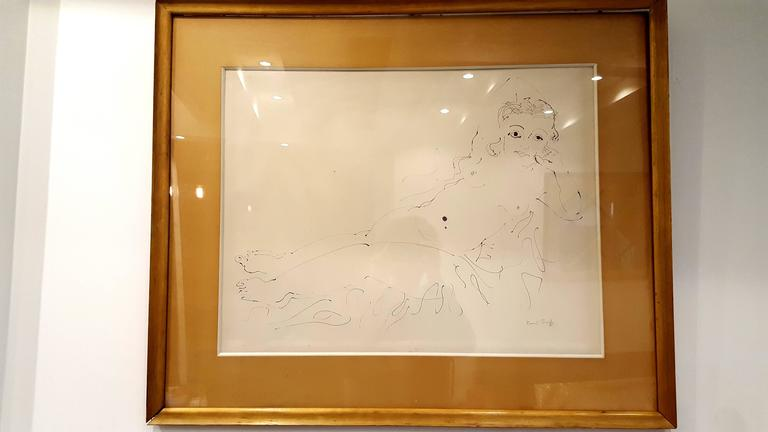 Raoul Dufy - Relaxation - Original Signed Ink Drawing For Sale 3