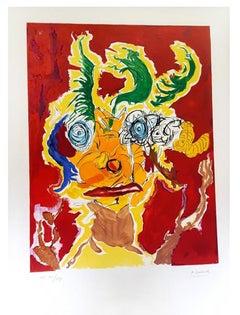 Armand Nakache - Original Handsigned Lithograph - Ecole de Paris