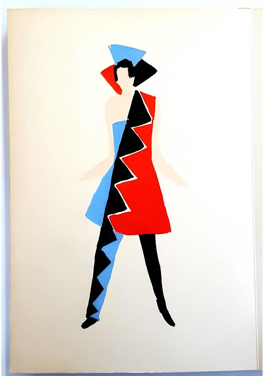 After sonia delaunay terk living painting original for Pochoir prints for sale