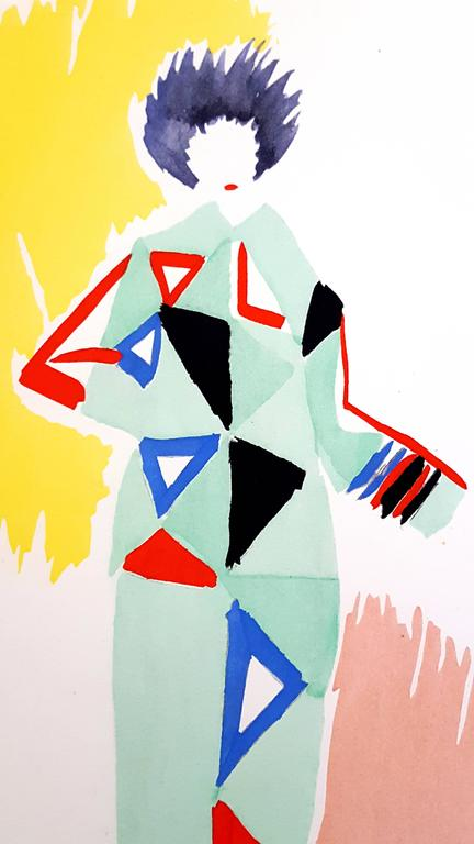 Sonia Delaunay - Living Painting - Colour Pochoir For Sale 1