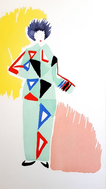 Sonia Delaunay - Living Painting - Colour Pochoir For Sale 3