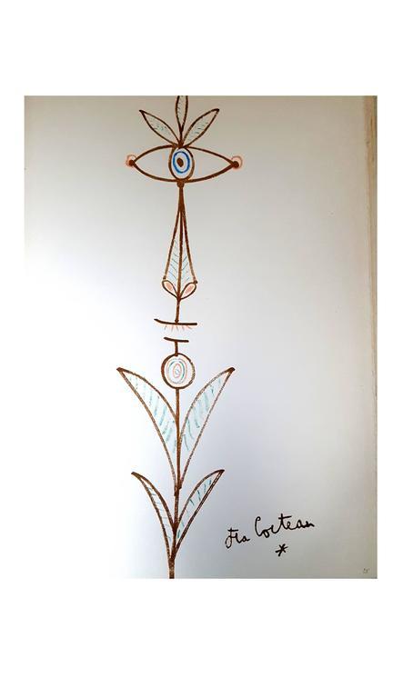 Jean Cocteau - Marine Mountains - Original Lithograph - Modern Print by Jean Cocteau