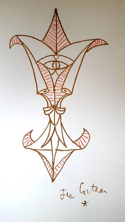 Jean Cocteau - Marine Mountains - Original Lithograph For Sale 1